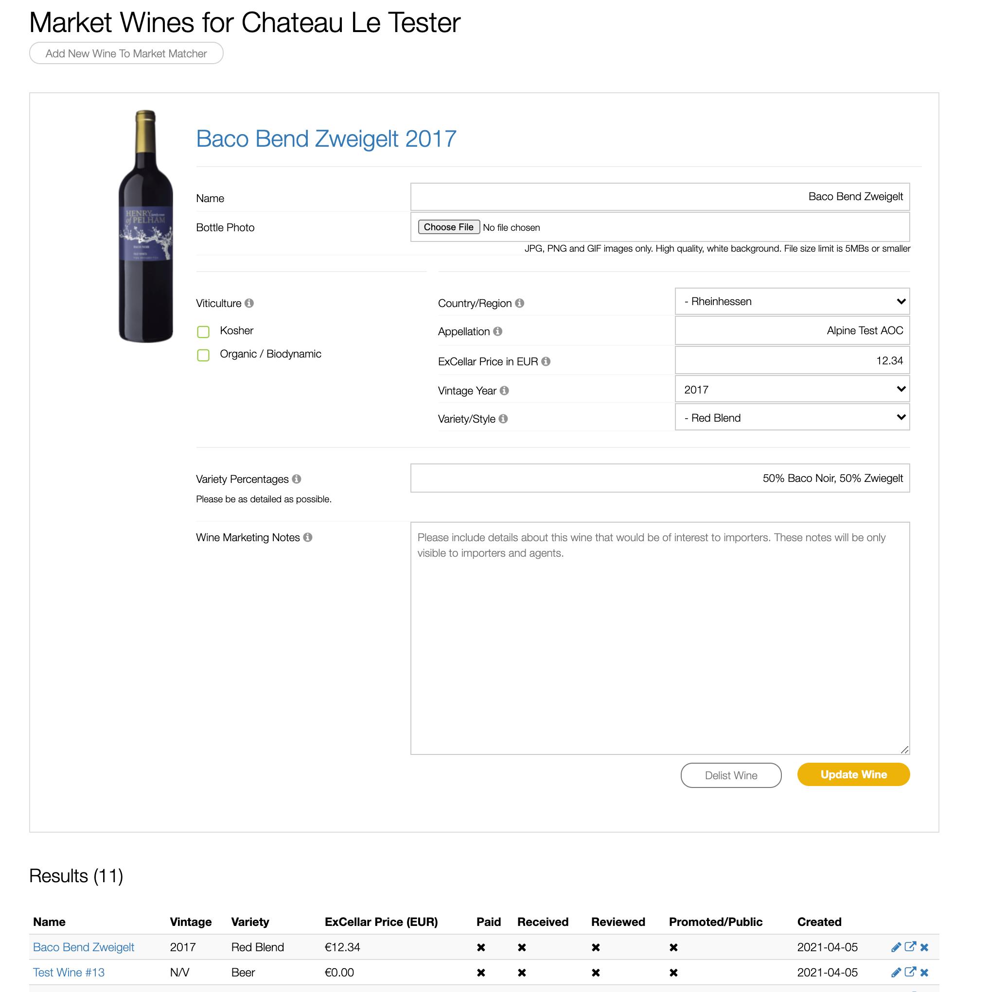 Wine Details